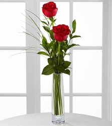 <b>2 Rose Budvase</b> from Scott's House of Flowers in Lawton, OK