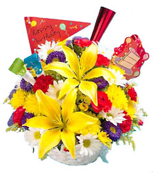 <b>Birthday Party Bouquet</b> from Scott's House of Flowers in Lawton, OK