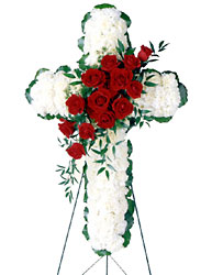 <b>Cross Memorial</b> from Scott's House of Flowers in Lawton, OK