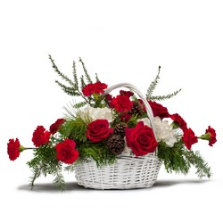 Holiday Basket Bouquet from Scott's House of Flowers in Lawton, OK