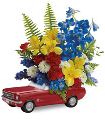<b>Ford Mustang Bouquet</b> from Scott's House of Flowers in Lawton, OK