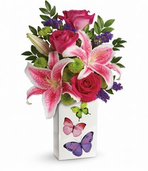 <b>Brilliant Butterflies Bouquet</b> from Scott's House of Flowers in Lawton, OK