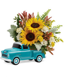 <b>Chevy Pickup Bouquet</b> from Scott's House of Flowers in Lawton, OK