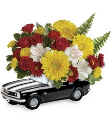'67 Chevy Camaro Bouquet from Scott's House of Flowers in Lawton, OK