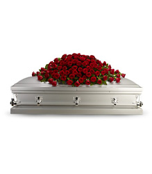 <b>Greatest Love Casket Spray</b> from Scott's House of Flowers in Lawton, OK