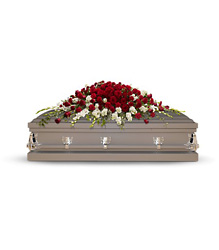 Garden of Grandeur Casket Spray from Scott's House of Flowers in Lawton, OK