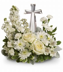 <b>Divine Peace Cross Bouquet</b> from Scott's House of Flowers in Lawton, OK