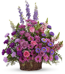 <b>Gracious Lavender Basket</b> from Scott's House of Flowers in Lawton, OK
