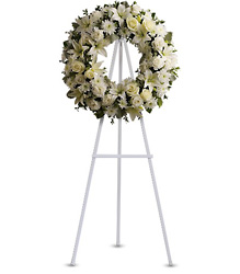 <b>Serenity Wreath</b> from Scott's House of Flowers in Lawton, OK