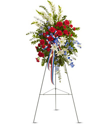 <b>Patriotic Standing Spray</b> from Scott's House of Flowers in Lawton, OK