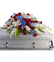 Distinguished Service Casket Spray from Scott's House of Flowers in Lawton, OK