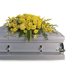 Graceful Grandeur Casket Spray from Scott's House of Flowers in Lawton, OK