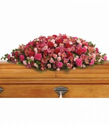 A Life Loved Casket Spray from Scott's House of Flowers in Lawton, OK