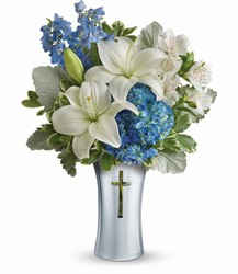 <b>Skies Of Remembrance Bouquet</b> from Scott's House of Flowers in Lawton, OK