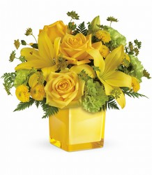 <b>Sunny Mood Bouquet</b> from Scott's House of Flowers in Lawton, OK