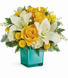 <b>Golden Laughter Bouquet</b> from Scott's House of Flowers in Lawton, OK
