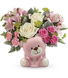 Bundle of Love Bear - Pinks & Whites from Scott's House of Flowers in Lawton, OK