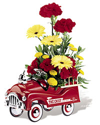 <b>Fire Engine Bouquet</b> from Scott's House of Flowers in Lawton, OK