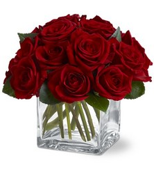 <b>Contemporary Dozen Rose Bouquet</b> from Scott's House of Flowers in Lawton, OK