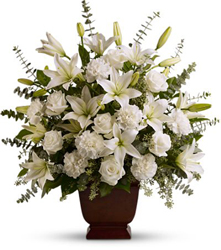 <b>Sincere Serenity Arrangement</b> from Scott's House of Flowers in Lawton, OK