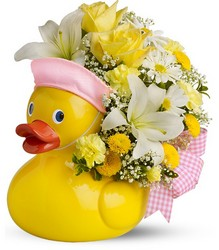 Just Ducky Bouquet for Girl - Deluxe  	  from Scott's House of Flowers in Lawton, OK