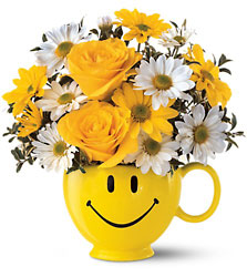 <b>Be Happy Bouquet</b> from Scott's House of Flowers in Lawton, OK